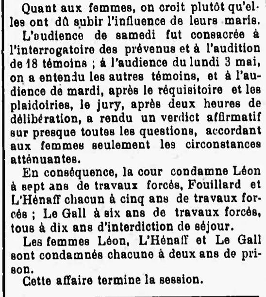 L'Hénaff François Marie plourin morlaix bagne guyane bagnard finistere