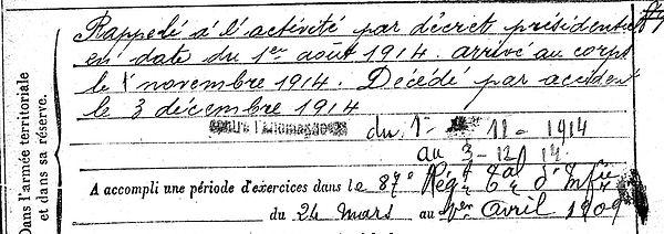 pont yves sibiril saint pol leon semeuse moderne brest cinema 14-18 Finistère Non Mort France Réformé maladie tuberculose suicide fusillé accident