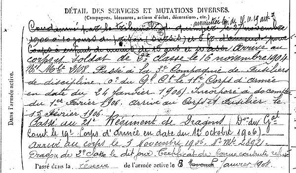 le loch guillaume pont l'abbe dieue meuse 14-18 Finistère Non Mort France Réformé maladie tuberculose suicide fusillé accident