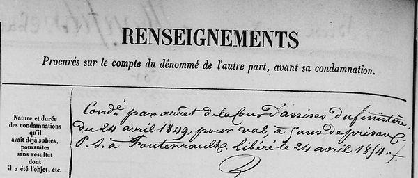 Monfils Charles Eugène landerneau le mer bagne guyane bagnard finisterei