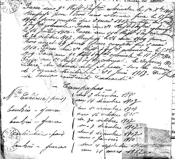 lastennt herve marie crozon troyes 14-18 Finistère Non Mort France Réformé maladie tuberculose suicide fusillé accident
