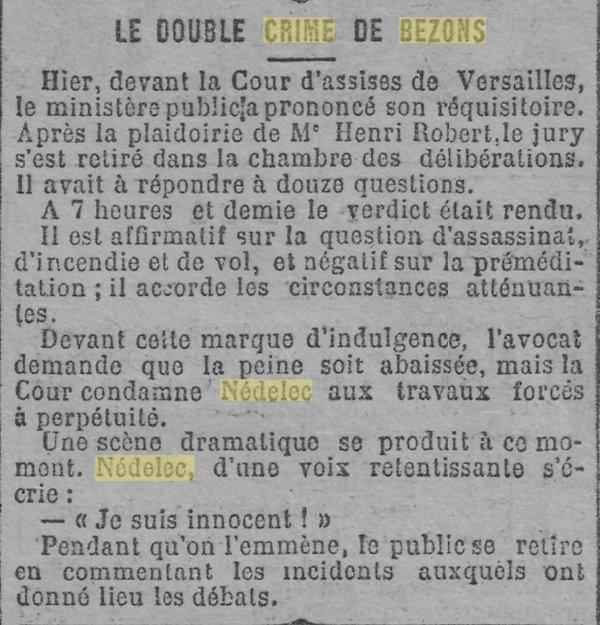 Nédélec Eugène Victor quimper crime bezons evade evasion bagne guyane bagnard finistereédélec Eugène Victor _12.jpg