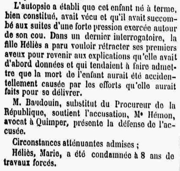 Helies Marie mavoir landeda brest bagne nouvelle caledonie bagnard finistere