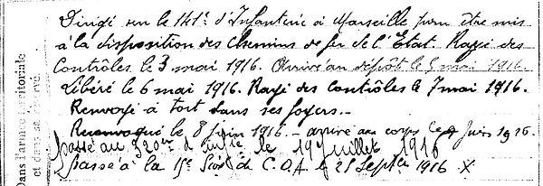 riou françois chateuneuf faou quimper 14-18 Finistère Non Mort France Réformé maladie tuberculose suicide fusillé accident