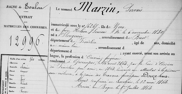Marzin Servais plouguin coat meal patrimoine histoire bagne guyane bagnard finistere