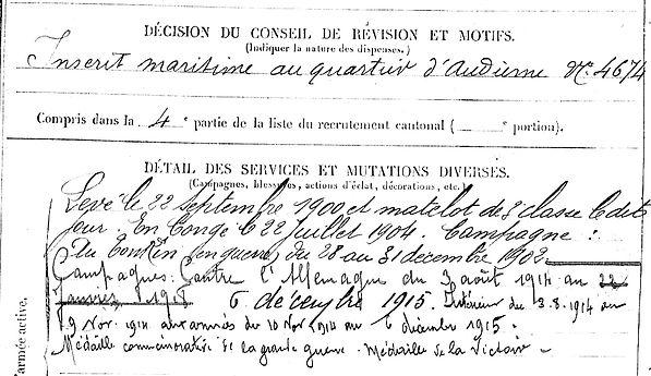 mat simon esquibien bruneteau nantes broussas 14-18 Finistère Non Mort France Réformé maladie tuberculose suicide fusillé accident