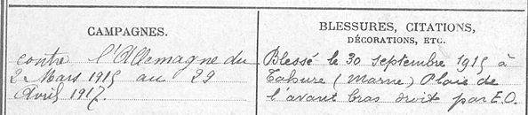 Riu Francis Olivier Landerneau Guerre 1914 1918 14-18 Finistère Finistérien Mort pour la France Berry au Bac cote 108 Sapigneul Choléra Moscou Mauchamp