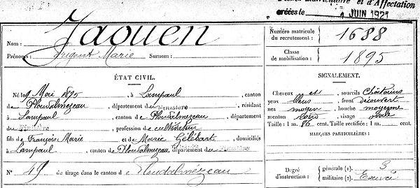 Jaouen Prigent Marie Lampaul ploudalmezeau patrick milan anne appriou guerre 1914 1917 14 18 patrimoine histoire plouguin finistere