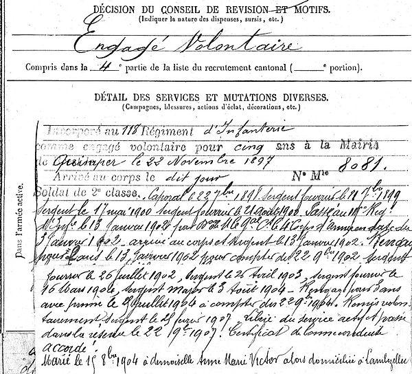 simon aristide marie brest epernay thiviers 14-18 Finistère Non Mort France Réformé maladie tuberculose suicide fusillé accident