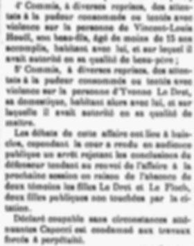 Capocci Antonio mrlaix bucourt houel cayenne bagne guyane bagnard finistere