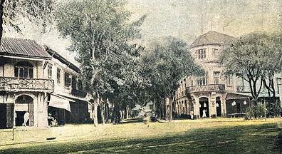 Entrance to Rue Catinat in Saigon ca 190
