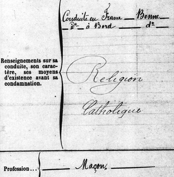 Chapallain Auguste Charles brest communard commune paris bagne nouvelle caledonie