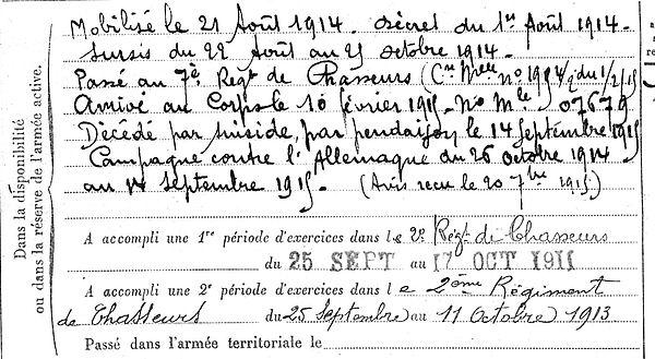 le pors jean mari scrignac evreux 14-18 Finistère Non Mort France Réformé maladie tuberculose suicide fusillé accident