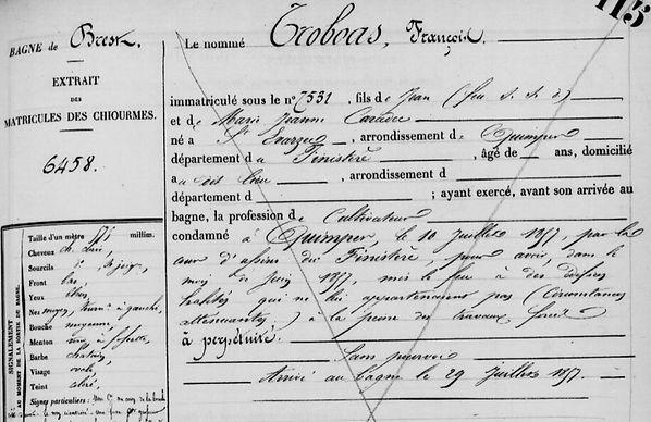 Troboas François caradec saint evarzec bagne guyane