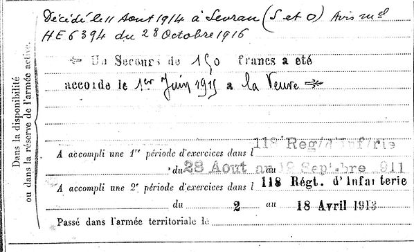 conan yves spezet sevran 14-18 Finistère Non Mort France Réformé maladie tuberculose suicide fusillé accident
