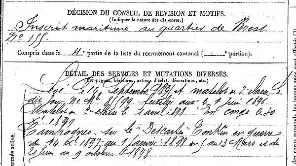 lastennet pierre dineault descarte tonkin landerneau 14-18 Finistère Non Mort France Réformé maladie tuberculose suicide fusillé accident