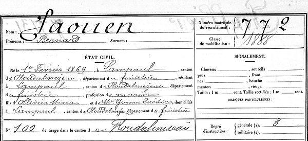 Jaouen Bernard Lampaul ploudalmezeau patrick milan anne appriou guerre 1914 1917 14 18 patrimoine histoire plouguin finistere