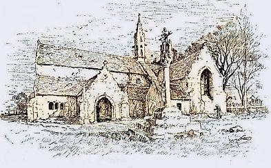 Dessin de la chapelle de Perguet (par Jo