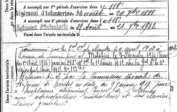 moysan joseph marie scaer 14-18 Finistère Non Mort France Réformé maladie tuberculose suicide fusillé accident