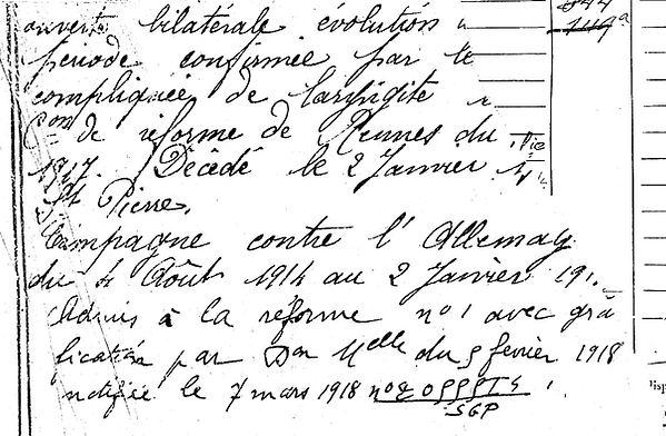 lannuzel guillaume françois marie brest saint pierre quilbignon 14-18 Finistère Non Mort France Réformé maladie tuberculose suicide fusillé accident