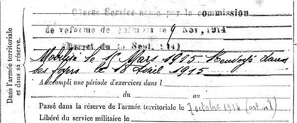 calvez vincent saint jean trolomon nantes 14-18 Finistère Non Mort France Réformé maladie tuberculose suicide fusillé accident