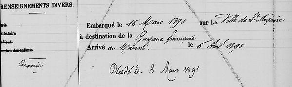 Tanguy François Auguste brest thonin bagne guyane bagnard finistere