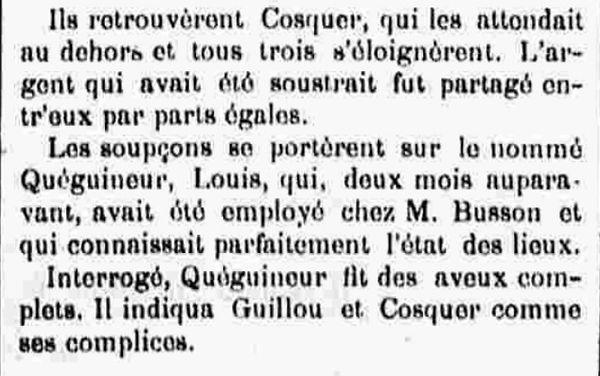 Quéguineur Louis Joseph chateaulin brest finistere bagne guyane bagnard