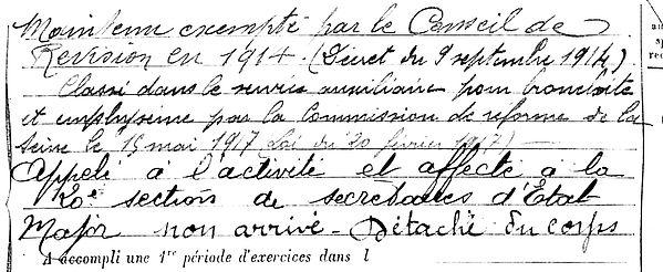 scelin auguste emile brest paris beton arme blum 14-18 Finistère Non Mort France Réformé maladie tuberculose suicide fusillé accident