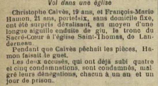 Hamon François landeda lambezellc appriou evade evasion bagne guyane bagnard finistere