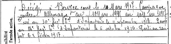 rioaal jean marie tregunc beuzec conq 14-18 Finistère Non Mort France Réformé maladie tuberculose suicide fusillé accident