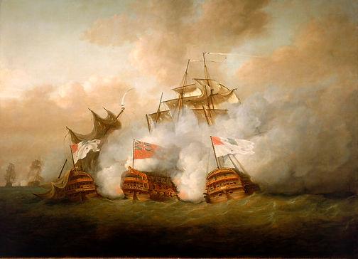 L'Achille, le HMS Brunswick et le Vengeu
