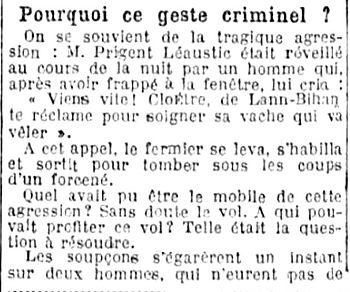 Avocat Pierre Alizon plourin ploudalmezeau plouguin quimper brest patrick milan finistere assinat crime drame meurtre assises