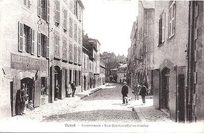 1916-Recouvrance-Rue-quartier-maitre-Bon
