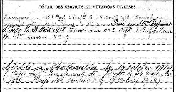 chaline eugene marie brest chateaulin 14-18 Finistère Non Mort France Réformé maladie tuberculose suicide fusillé accident