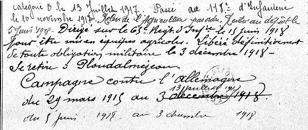 Le Gall François Marie Lampaul ploudalmezeau patrick milan guerre 1914 1918 14 18 patrimoine histoire plouguin finistere saint pabu treouergat bretagne poilu marin