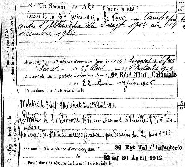 cochennec christophe louis bannalec concarneau 14-18 Finistère Non Mort France Réformé maladie tuberculose suicide fusillé accident