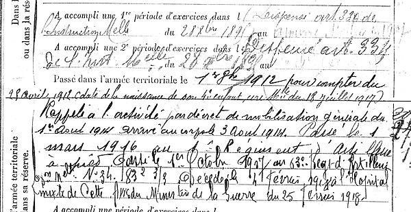 uguen joseph marie ploudaniel sete 14-18 Finistère Non Mort France Réformé maladie tuberculose suicide fusillé accident