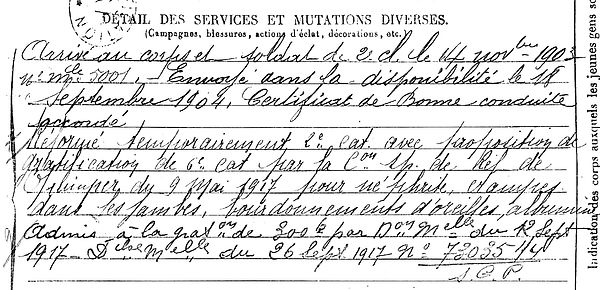 drouglazet yves alain marie riec belon 14-18 Finistère Non Mort France Réformé maladie tuberculose suicide fusillé accident