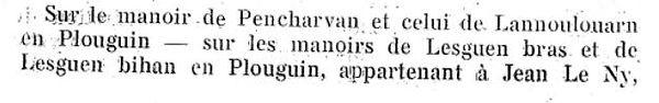 lesven lescalvar jean jacques lelez lez plouguin patrimoine histoire patrick milan