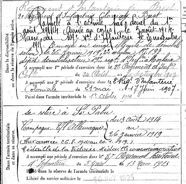 Morel Sébastien Marie Lampaul ploudalmezeau patrick milan anne apprioual guerre 1914 1917 14 18 patrimoine histoire plouguin finistere