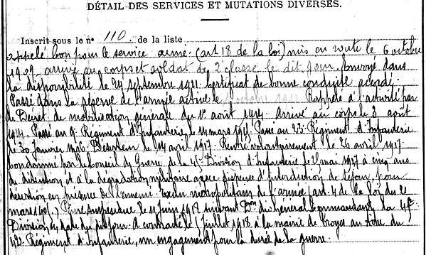 larchiver emile louis guerlesquin noisy le Grand 14-18 Finistère Non Mort France Réformé maladie tuberculose suicide fusillé accident