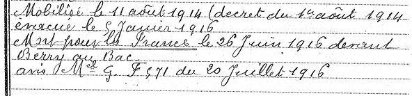 Nicot Pierre Marie Edern Guerre 1914 1918 14-18 Finistère Finistérien Mort pour la France Berry au Bac cote 108 Sapigneul Choléra Moscou Mauchamp