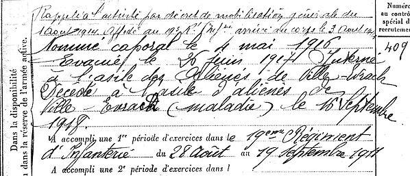 paugam augustin plonevez lochrist ville evrard neuilly marne 14-18 Finistère Non Mort France Réformé maladie tuberculose suicide fusillé accident