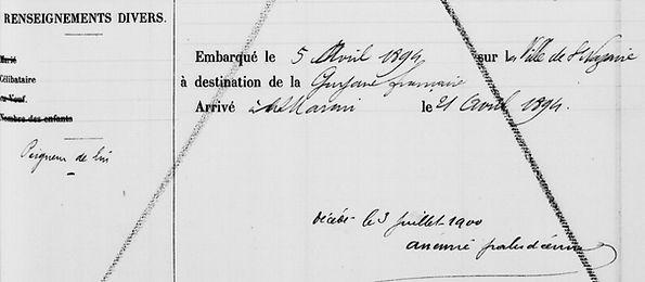 Guillou Pierre François Marie lejoly brest bagne guyane bagnard finistere
