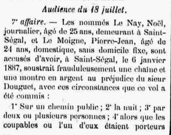 Le Moigne Pierre Jean chateaulin bagne guyane bagnard