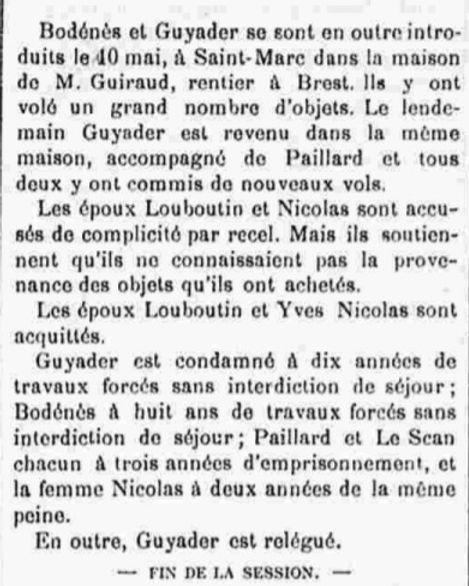 Guyader Amédée lambezellec brest bane guyane bagnard