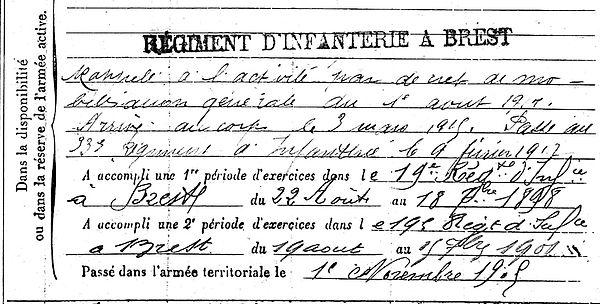 quere jean louis plouenan plourin morlaix 14-18 Finistère Non Mort France Réformé maladie tuberculose suicide fusillé accident