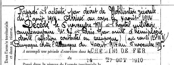 henaff françois louis carhaix 14-18 Finistère Non Mort France Réformé maladie tuberculose suicide fusillé accident