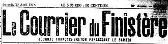 perhirin edouard ploudalmezeau chalutier barbue brest 14-18 Finistère Non Mort France Réformé maladie tuberculose suicide fusillé accident