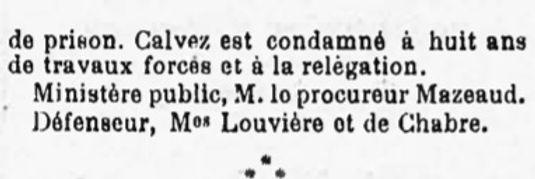 Calvès Louis Emmanuel brest evade bagne guyane bagnard finistere